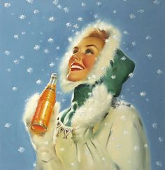 Simply gorgeous 1940s illustrated soda pop ad