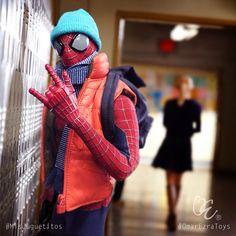 """Spider-Cool"" #MisJuguetitos #OmarEzraToys #HotToys #SideShowCollectables #Spiderman #Marvel #PhoTOYgrapher"