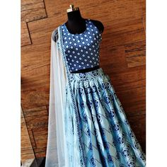 Sky blue heavy satin digital printed partywear lehenga - Blouse - 1 meter heavy satin printed fabric ( unstitched blouse )Lehenga - heavy satin with Lace Saree, Satin Saree, Lehenga Blouse, Lehenga Choli, Indowestern Saree, Party Wear Indian Dresses, Printed Gowns, Suit Fabric, Georgette Fabric
