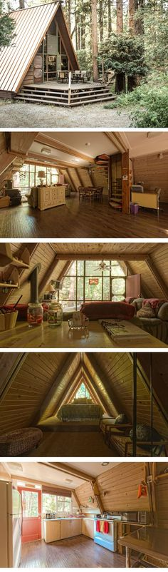 Now that we're getting settled into our new manufactured home, I'm starting to plot my next big property purchase: an A-Frame house in the mountains. #TinyCabins #LittleCabin