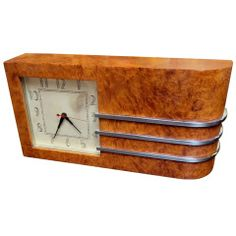 1934 Chicago Worlds Fair Art Deco Clock by Gilbert Rohde L 13.5 in. D 2.5 in. H 7 in. $3,200