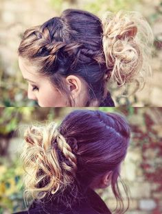 Zoella up do hairstyle ..... How is that even possible to do