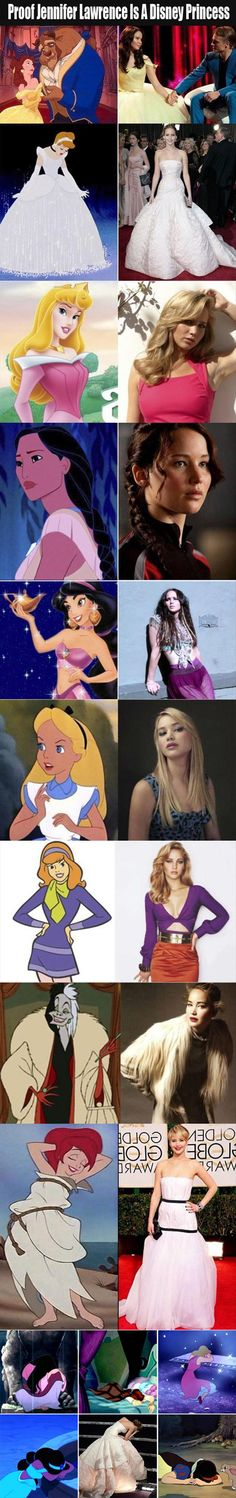 Ha but since when are Curella De Vil and Daphne Disney princesses? Scooby Doo isn't even Disney. If Jennifer Lawrence can be a disney princess so can i :x Walt Disney, Disney Pixar, Disney And Dreamworks, Disney Love, Disney Magic, Disney Characters, Funny Disney, Disney Stuff, Female Characters