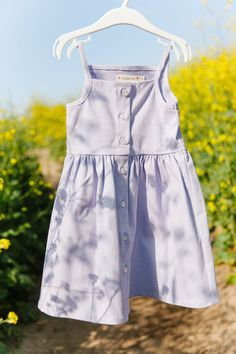 $46 | Pips and Poppy 'Heather Dress' in Lavender. Tank top button-up dress made with 95% soft cotton and 5% spandex. The cutest, most comfortable dress for girls #littlegirlsdress #girlfashion Little Girl Summer Dresses, Little Girls, Girls Dresses, Button Up Dress, Summer Looks, Dress Making, Poppy, Lavender, Girl Fashion