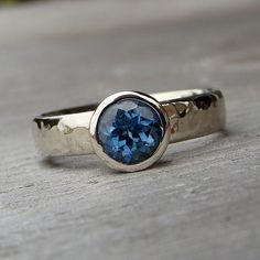 sapphire ring...pretty.