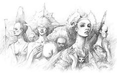 Illustration for polish edition of Diuna by Wojciech Siudmak