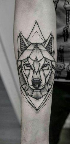 Kylie Jenner's ski fashion - Everything About Women's Wolf Tattoo Sleeve, P Tattoo, Dad Tattoos, Tattoo Sleeve Designs, Sleeve Tattoos, Tattoos For Guys, Tatuaje Trash Polka, Geometric Wolf Tattoo, Astronaut Tattoo
