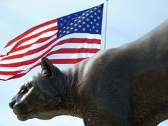 The Cougar Pride statue on Cougar Football Saturday, Sept. 11, 2010.
