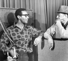 Max Roach and Duke Ellington, Money Jungle session, September 17th 1962, Sound Makers Studios, NYC.
