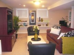 transformed basement, This basement area provides room for an office, childrens area and entertainment., entertainment area with gas firepla...