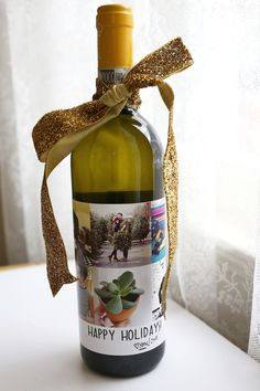 Three last minute holiday gift ideas! LOVE this wine bottle idea from @Elsie Larson of A Beautiful Mess.