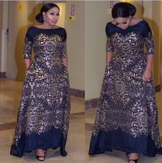 These are latest Aso Ebi Styles you can rock to the next wedding you'll be attending. African Attire, African Wear, African Dress, African Inspired Fashion, African Fashion Dresses, Nigerian Fashion, Style Africain, African Lace, Types Of Dresses
