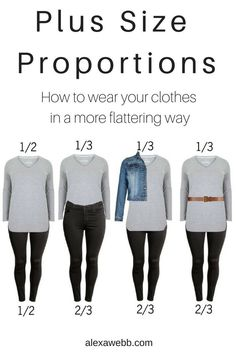 Plus Size Proportions - How to wear your clothes in a more flatting way.  #proportion
