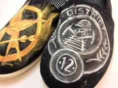 Hunger Games Painted Shoes - CRAFTSTER CRAFT CHALLENGES