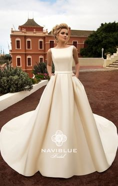 Cheap bridal gown, Buy Quality satin wedding dress directly from China wedding dress Suppliers: Amdml 2017 Luxury Satin Wedding Dresses Off-White Red Bow with Belt Cathedral Train Robe De Mariage Real Photos Bridal Gowns Valentino Bridal, Top Wedding Trends, Creative Wedding Ideas, Bridal Wedding Dresses, Budget Wedding, Dress Collection, Marie, Rustic Wedding, Nontraditional Wedding