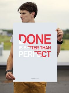 "Poster ""Done Is Better Than Perfect"" Startup Vitamins by on The Bazaar"