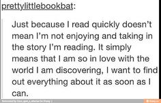 Finally!! Something that describes me while reading!!
