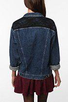 Urban Renewal Lace Inset Denim Jacket  #UrbanOutfitters
