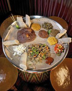 The Sheba sampler at Sheba, an Ethiopian restaurant in Canton.