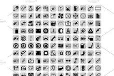 Car part icons set. Vector Illustration What's included ? - 1 Files for all Icons - 1 AI Files for all Icons - 1 SVG Files for all Icons - 1 JPG Files for All Icon, Icon Set, Blog Online, Antique Radio, Icon Collection, Car Engine, Pictogram, Social Media Graphics, Car Parts