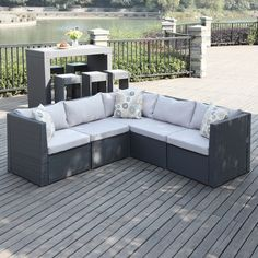 Portfolio Aldrich Grey Indoor/Outdoor 5-piece Sectional Set - Overstock™ Shopping - Big Discounts on PORTFOLIO Sofas, Chairs & Sectionals