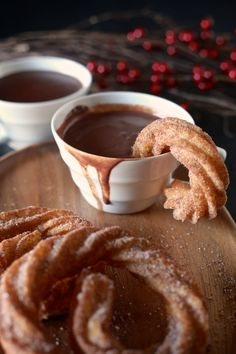 The Noshery | Spanish Hot Chocolate with Coconut Churros | http://thenoshery.com