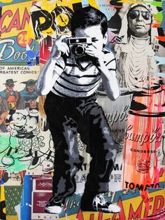 A piece of artwork by Mr Brainwash for his new show at the Old Sorting Offi - The Independent