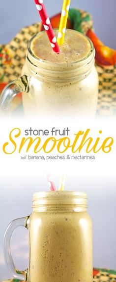 Stone Fruit Smoothie - One of my favorite smoothies, healthy & delicious…
