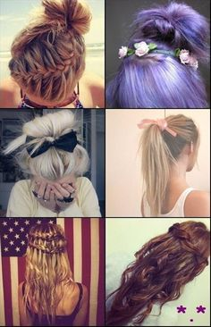 braids and bows - Click image to find more Hair & Beauty Pinterest pins
