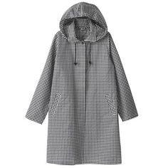 Women Polyester Raincoat - Gingham Check - Rain - Accessories