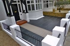 garden-ideas House front tiles Ideas At the moment, the small front garden looks bare and Front Patio, Garden Wall, Terrace House, Victorian Terrace, House, Victorian Front Garden, Small Front Gardens, House Front, House Entrance