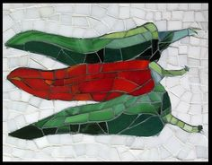 Chillies Mosaic by Pauline Gallagher