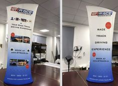 Fabric Banner Stands are a classy alternative to Retractable Banner Stands. We just happen to specialize in both 😊 Shown here a double sided print, you can also add shelves to these if needed. Fabric Display, Brochure Holders, Retractable Banner, Banner Stands, Backdrop Stand, Custom Fabric, Custom Design, Alternative, Classy
