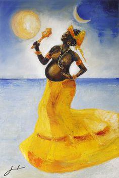 My Art Portfolio Ifa Religion, Yoruba Religion, Oshun Goddess, Goddess Art, African Mythology, Black Girl Art, Land Art, Art Portfolio, African Art