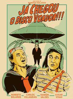 Chaves, Bolaños, disco voador, Seu Barriga, Quico