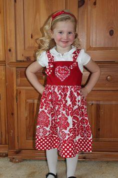 Be mine Valentine Knot dress...JPQuilts...etsy