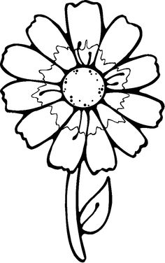 coloring pages for preschoolers | Preschool Flower Coloring Pages ...