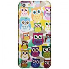 $1.93 High Quality Colorful  Plastic Protective Case Cover with Owl Pattern for iPhone 5