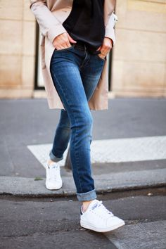e6228ec058724 55 Best Adidas Stan smith images   Casual outfits, Fall winter ...