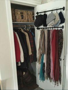 Good idea for coat closet