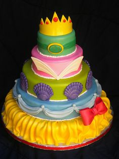 Disney Princesses tiered cake