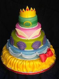 Disney Princesses tiered cake
