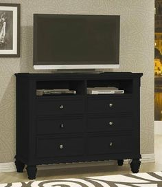 tv dresser stand cape cod style in black finish by coaster home furnishings 55366 tv dresser stand cape cod style in black finish amazoncom alba pmclas chromy