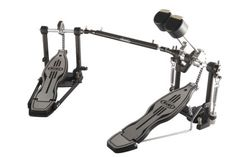Mapex P500TW Double Bass Drum Pedal: Work on your blast beats with the smooth and rugged P500TW double bass drum pedal from Mapex, which features fully adjustable spring tensions and duo-tone beaters.