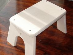 Unfinished Wood Step Stool - Safe, Tip-resistant