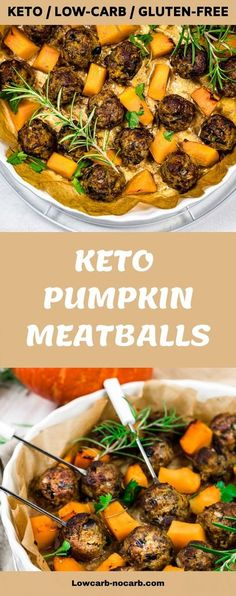 Super easy, those Roasted Keto Pumpkin Meatballs Recipe is not only extremely delicious but will give you the vibrant colors and fill up your Autumn Kitchen with satisfying Rosemary aroma. Perfect dish for your Keto Meal Prep, which is also Gluten-free, Grain-free and a great addition to our Low Carb lifestyle.