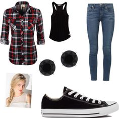 Winter look by s-edgin on Polyvore featuring polyvore, fashion, style, Scotch & Soda, Paige Denim, Converse and Anne Klein