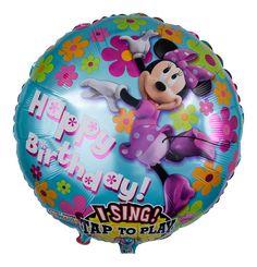 Wer kennt sie nicht, die charmante Freundin von Mickey Mouse, die für ihr Leben gern singt und tanzt? Mit ihrer liebenswürdigen Art erobert sie die Herzen und mit ihrer typischen Stimme trällert die zauberhafte Walt Disney Zeichentrickfigur dem Geburtstagskind ein Ständchen.