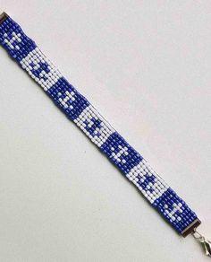 Nautical Anchor Sailor Loom Beaded Bracelet 6 Nautical Anchor, Wood Crafts, Friendship Bracelets, Loom, Sailor, Beaded Bracelets, Handmade, Jewelry, Navy Sailor