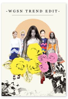 WGSN Summer Trend Edit - Postcard by Eimear O'Connor, via Behance